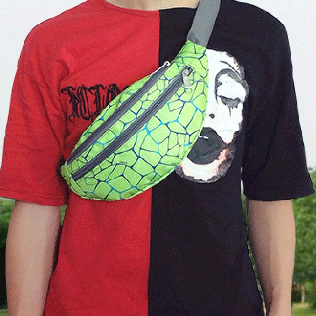 Riñonera de camuflaje para hombre, riñonera para deportes al aire libre, riñonera Unisex de nailon para teléfono, para el pecho, bolsa de Marsupio uomo Banana