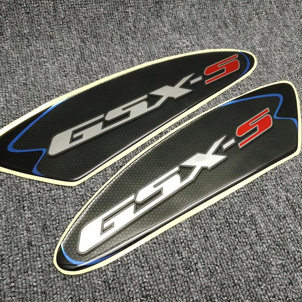 Para suzuki GSX-S125 GSX-S750 GSX-S1000 GSX-S gsxs 750 1000 3d protetor de almofada do tanque da motocicleta adesivos almofada lateral gás combustível joelho aperto