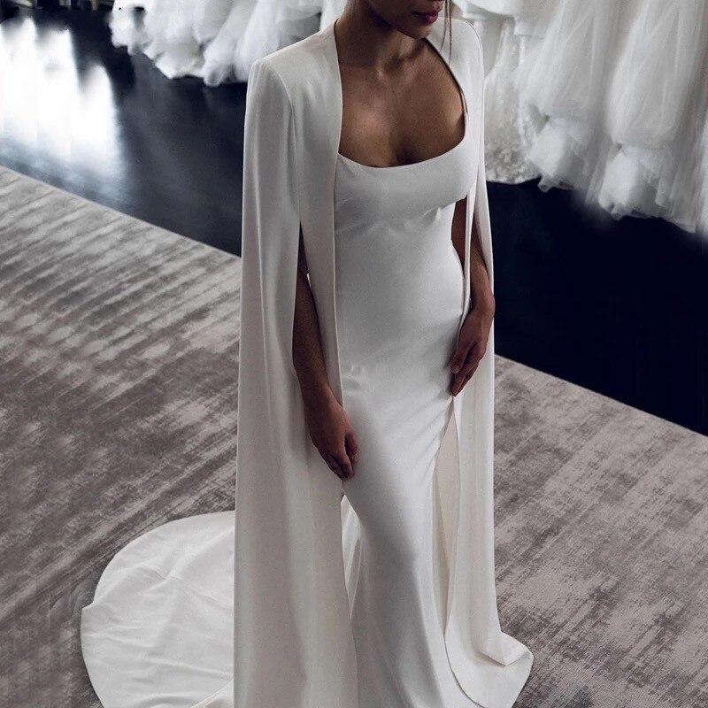 Vestido De Novia De sirena árabe De Dubái con envoltura, Vestidos De...