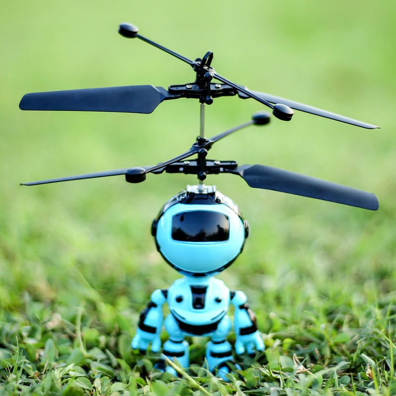 Electric RC Airplane Infrared Induction USB Charging Plastic Mini Fly Robot Electronic Aircraft Susp
