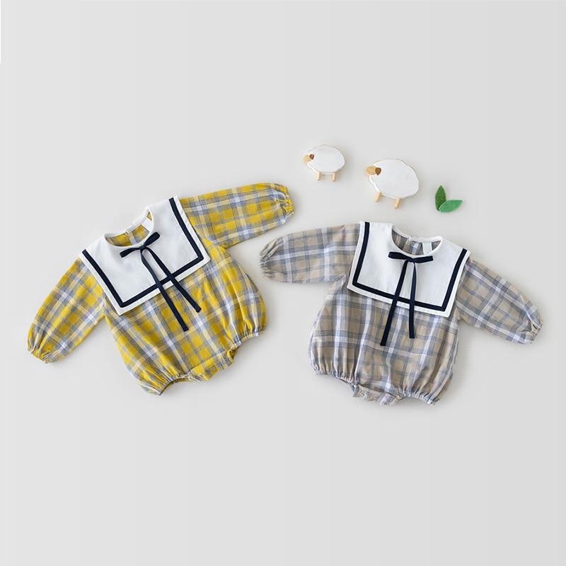 Осенние боди с длинным рукавом для маленьких девочек, простые милые комбинезоны в сетку для маленьких девочек, хлопковая Повседневная модн...