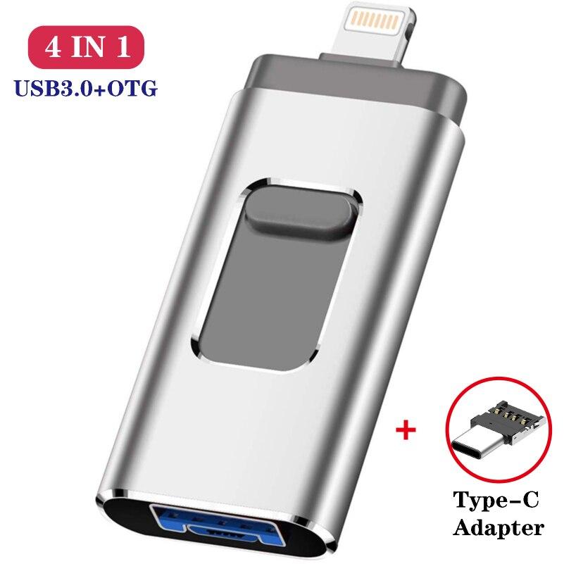 Unidad Flash Usb para Iphone Ipad Android Teléfono Inteligente Tablet Pc Pen Drive 8gb 16gb 32gb 64gb 128gb lápiz de memoria Usb
