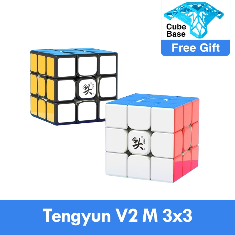 Original Newest Dayan tengyun V2 M Magnetic 3x3x3 Cube Cubo Magico 3x3 with Magnets Educational Toys