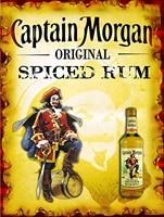 captain morgan original spiced rum retro metal tin wall signplaque gift wall bar pub man cave