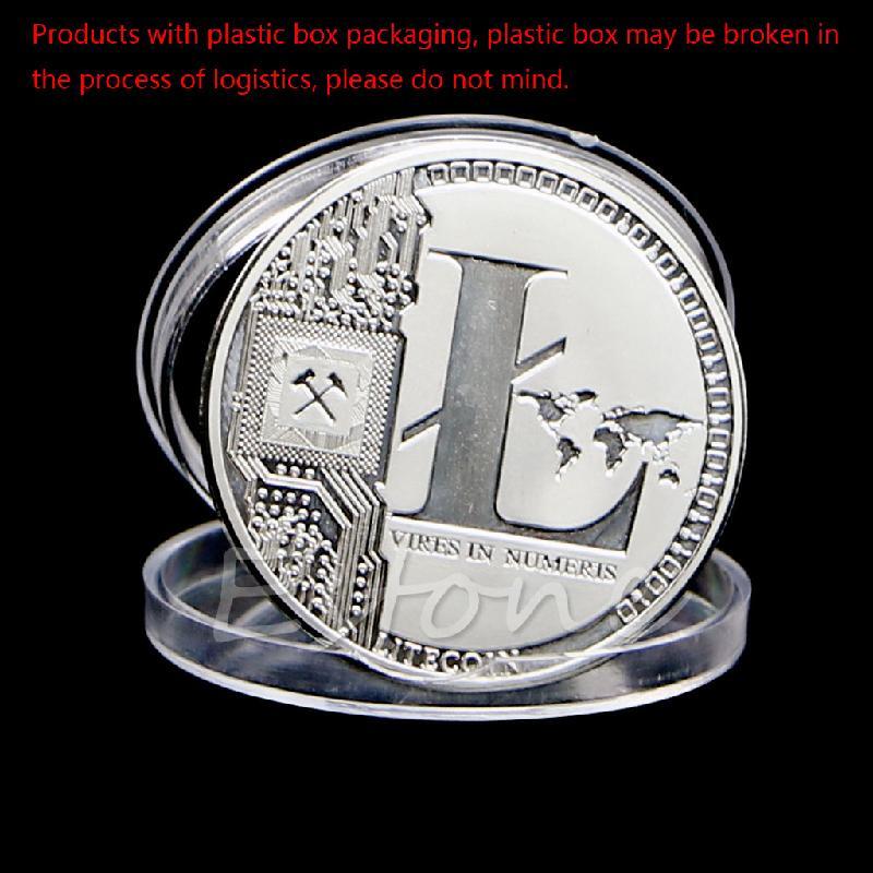 Verzilverd 25 Litecoin Munten Vires In Numeris Herdenkingsmunt Collection