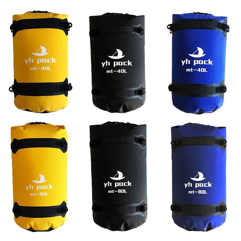 Waterproof Motorcycle Travel Bag Motorcycle Seat Backpack Outdoor Quick-drying Suitcase 40/80L Waterproof Liner