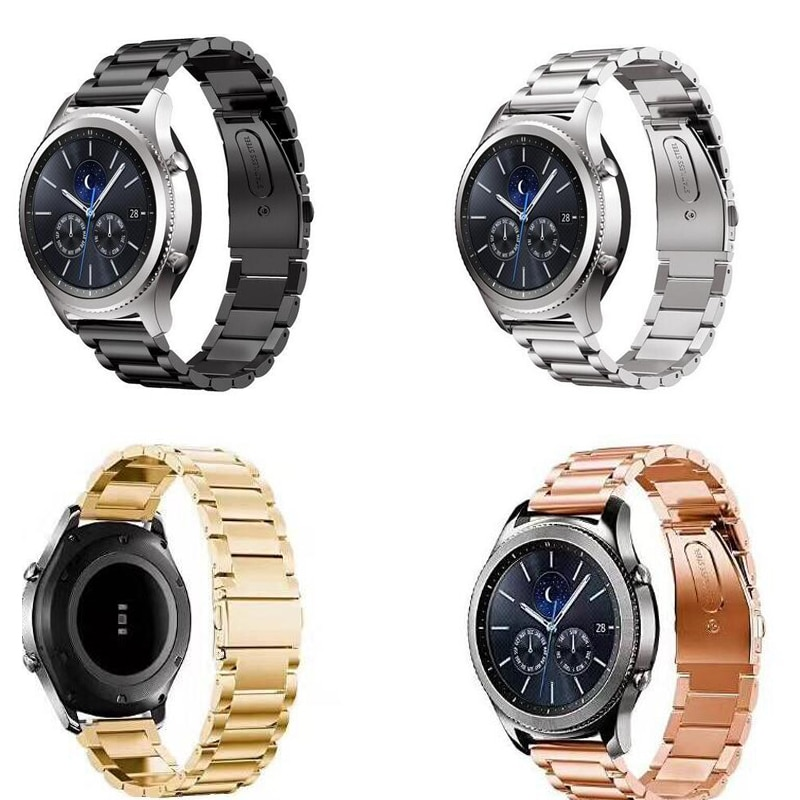 Bracelet acier inoxydable galet temps Huawei GT 2 honour magic pro bracelet zenwatch Ticwatch s s2 E/pro/c2 bracelet 20mm 22mm