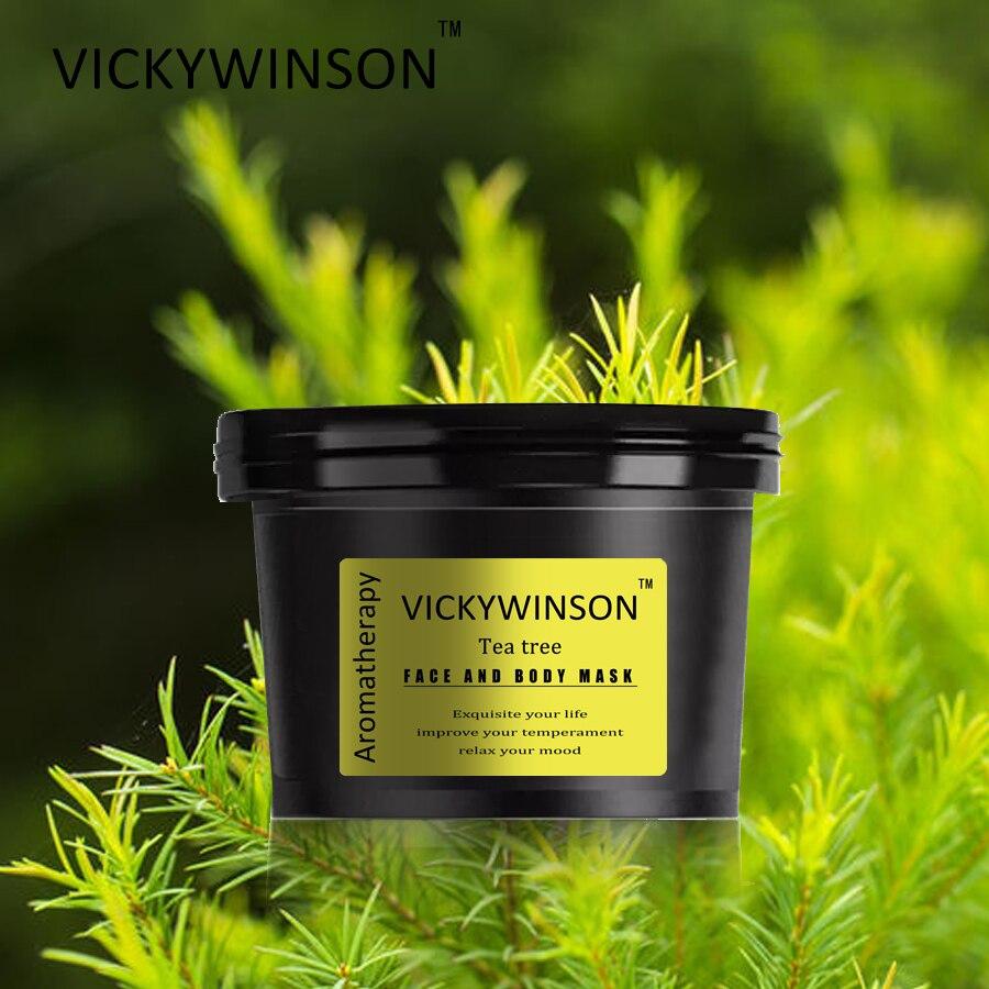 Máscara exfoliante para aromaterapia facial y corporal de Tea tree, 50g, exfoliante...