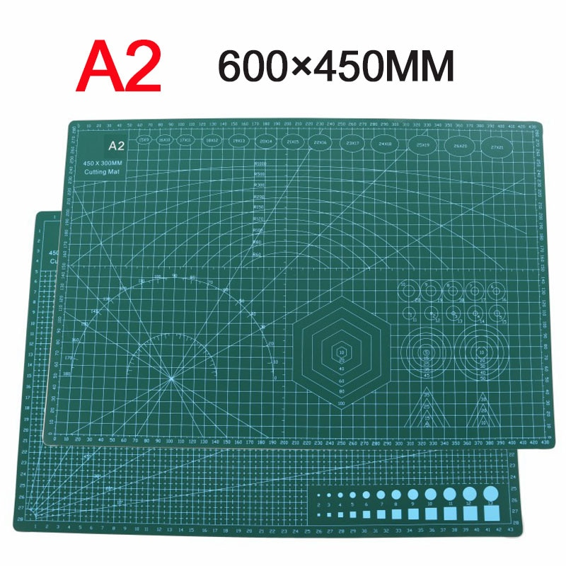 A2 PVC Cutting Mat Double Sided Patterned Patch Cutting Pad Craft Self Healing Cutting Mat Quilted Scrapbooking 45x60cm Board