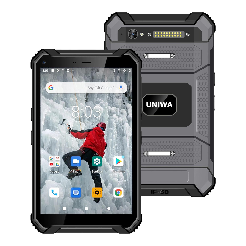 UNIWA T83 Waterproof Android 10.0 Mobile Phone Tablet 8 inch 12000mAh 6 RAM 128GB ROM Dual SIM Card NFC Rugged Tablet