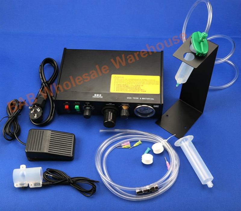 Máquina dispensadora de control digital de precisión Semi automática AC220V máquina de pegamento neumático máquina de Pegamento de silicona dispensador de pegamento