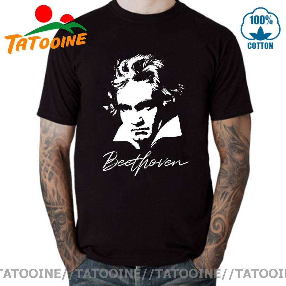 Tatooine Ludwig Van Beethoven retrato Compositeur classique camiseta Geek ajusté camiseta novedad...