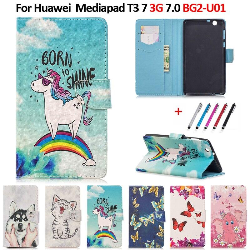 Чехол для планшета Huawei Mediapad T3 7 3G BG2-U01 Чехол-бумажник с подставкой для Huawei T3 7 (3G)
