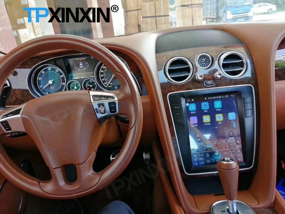 128G Tesla Screen Carplay Android 11 Car Radio 2 Din Stereo Receiver For Bentley Continental GT Supersports Fly Spur Audio Unit