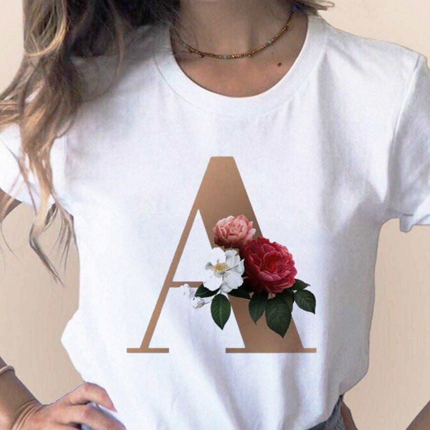 Женская футболка с буквенным принтом и буквенным принтом по индивидуальному заказу; Одежда с короткими рукавами и буквенным принтом для де...