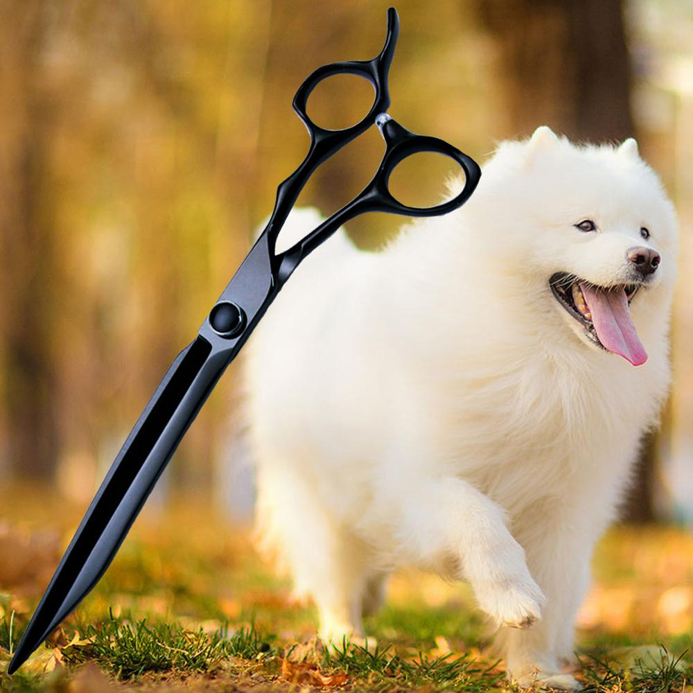 GOZLILI 8 بوصة اليابانية 440c الصلب المهنية مقص للحيوانات الأليفة أدوات تصفيف الشعر مقص عر الحيوانات الأليفة الكلاب الكبيرة مقص الحلاق قطع