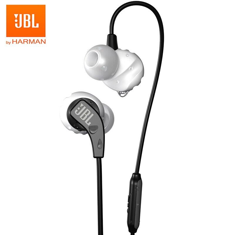JBL التحمل تشغيل في الأذن سماعات الرياضة باس العرق واقية المغناطيسي سماعات في خط التحكم يدوي مع هيئة التصنيع العسكري آيفون أندرويد