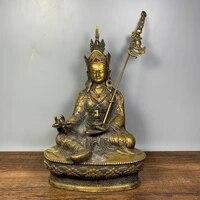 home decor 9tibet buddhism temple old bronze gem padmasambhava buddha ugyen rinpoche statue enshrine the buddha