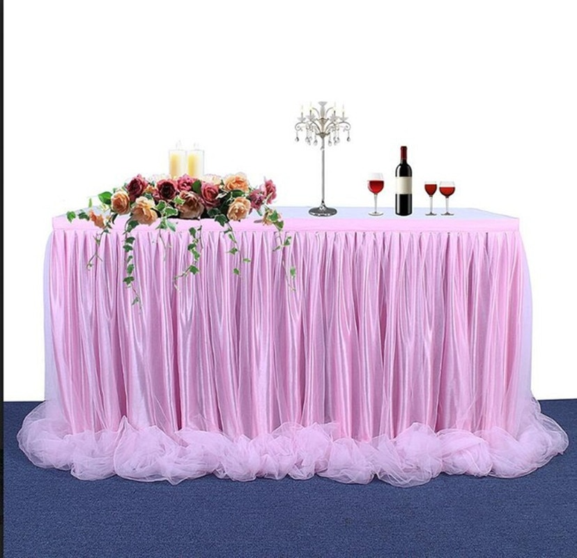 المنزل الديكور مفرش طاولة مفرش المائدة اليدوية تول لحفل زفاف حفلة عيد ميلاد/استحمام الطفل الشيفون الشاش الحجاب الزفاف