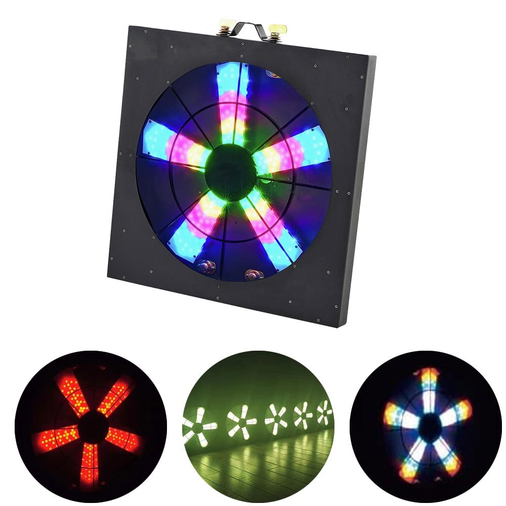 Светодиодный сценический пиксельный вентилятор DMX512, управление освещением диджея, 3 в 1, управление музыкой, вращающийся эффект светильник ...