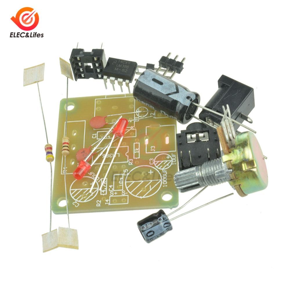 3,5mm 3-12V LM386 Mini Amplificador módulo Super Mini Amplificador de Audio Kit DIY Suite Trousse electrónica inteligente, Kit de bricolaje,