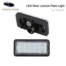Para Toyota Land Cruiser 120 Prado Land Cruiser 200 Lexus GX470 estilo de coche sin Error LED blanco trasera con números Placa de luz auto lámpara