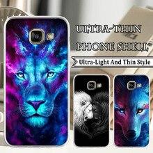Phone Case for Samsung J4 J6 S3 S7 S8 Plus S9 Plus A6 A6 Plus Purple Glittering Lion Print TPU Soft