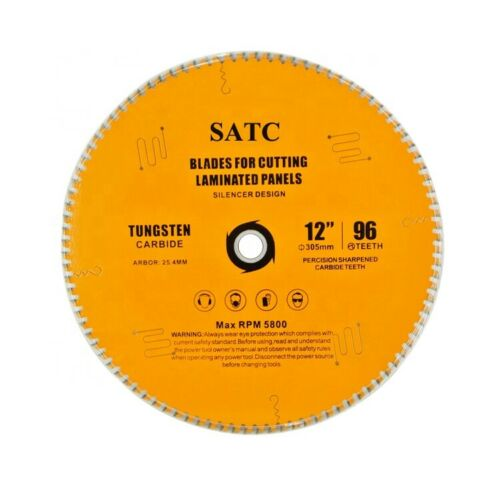 1 Pack 12-Inch Circular Saw Blade Tungsten Carbide 96 Tooth for Laminated Panels 7 80 teeth carbide circular saw blade for clean cutting laminated mdf pre laminated mdf plain mdf design mdf free shipping