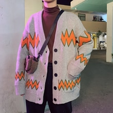 Autumn and Winter Hong Kong Style Couple's Cardigan Coat Ins Trendy Student Loose Long Sleeve Sweate