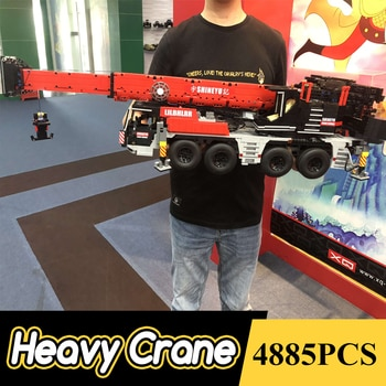 Creator Expert Mobile Crane 1:17 4885 Pcs Engineering Vehicle Car Moc Modular Bricks Building Blocks Technical Model Toys