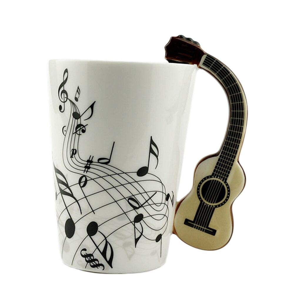 Preup novidade presente instrumentos nota musical copos de cerâmica copo caneca café caneca criativa casa escritório leite copos drinkware