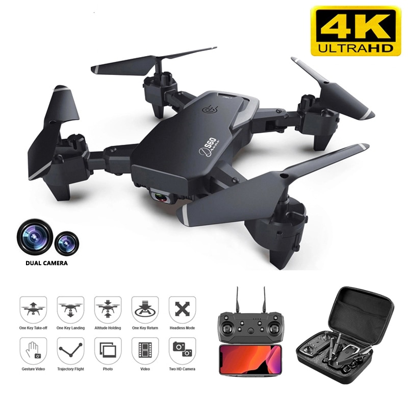 2021New S60 Drone 4k Profesional HD Wide Angle Camera 1080P WiFi Fpv Drone Dual Camera Height Keep Drones Camera Helicopter Toys