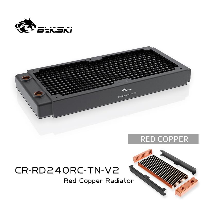 Bykski 240 مللي متر النحاس المبرد RC سلسلة عالية الأداء تبديد الحرارة 30 مللي متر سمك ل 12 سنتيمتر مروحة برودة ، CR-RD240RC-TN-V2