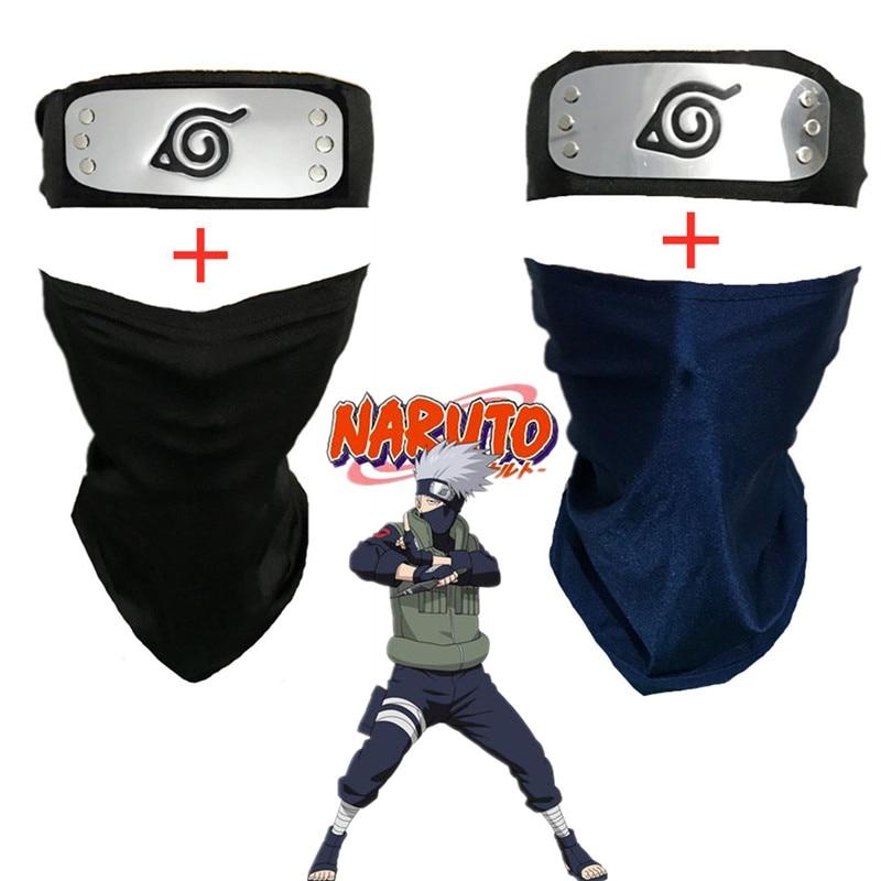 Hatake Kakashi Cosplay Mask Headband Anime Naruto weapon Accessories Halloween Costume Arms Props