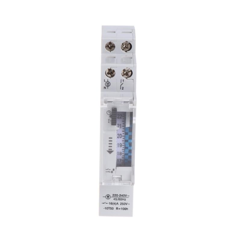 Mecánico 24 horas diarias 15 minutos relé de interruptor de temporizador Din programable 110-240V 16A interruptor de funcionamiento Manual SUL180a