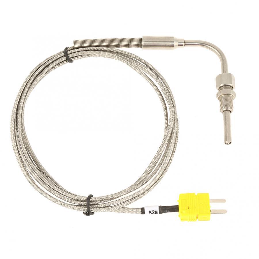 2m egt k tipo termopar sensores de temperatura para gás de escape temperture sonda aço inoxidável ajustável bloqueio de pressão