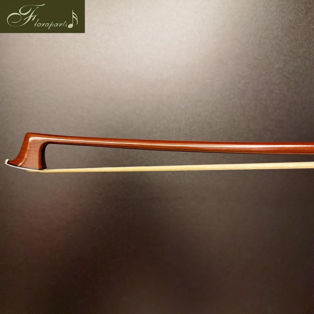 Floraparts 4/4 Size Violin Bow Pernambuco Round Stick Antiqued Ebony Frog With Paris Eyes Silver Parts FPZ07 enlarge