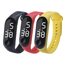 Pedometers Fitness Fashion Led Electronic Bracelet Watch Student Couple Children's Electronic Watch