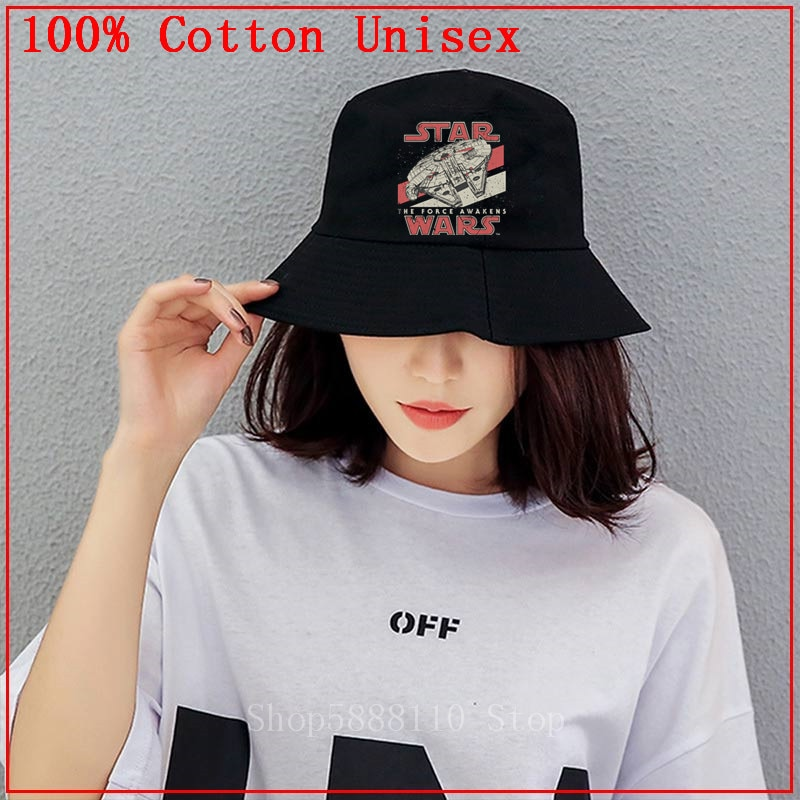 2020 summer New Fashion star war bucket hat cap men women cotton marvel k pop panama fisherman hat outdoor hunting fishing hat