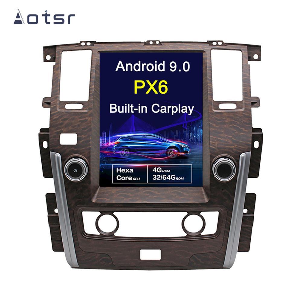 Android 9,0 estilo Tesla 12,1 pantalla Vertical DSP GPS para coche de navegación para NISSAN PATROL 2010 + unidad principal reproductor de radio Multimedia