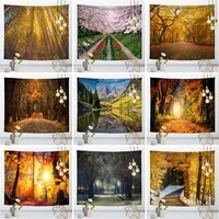 forest series hanging cloth cloth four seasons scenery background decoration nordic ins wind bedroom living room wall tapestry
