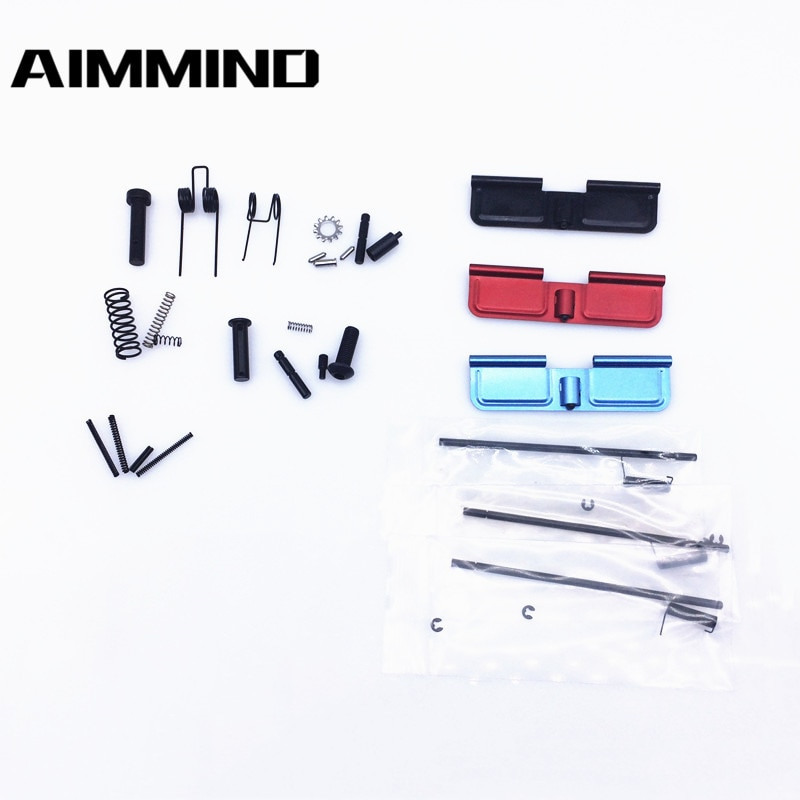 AR15 All Lower parts Pins , Springs and Detents .223 5.56 + 1 color dust cover