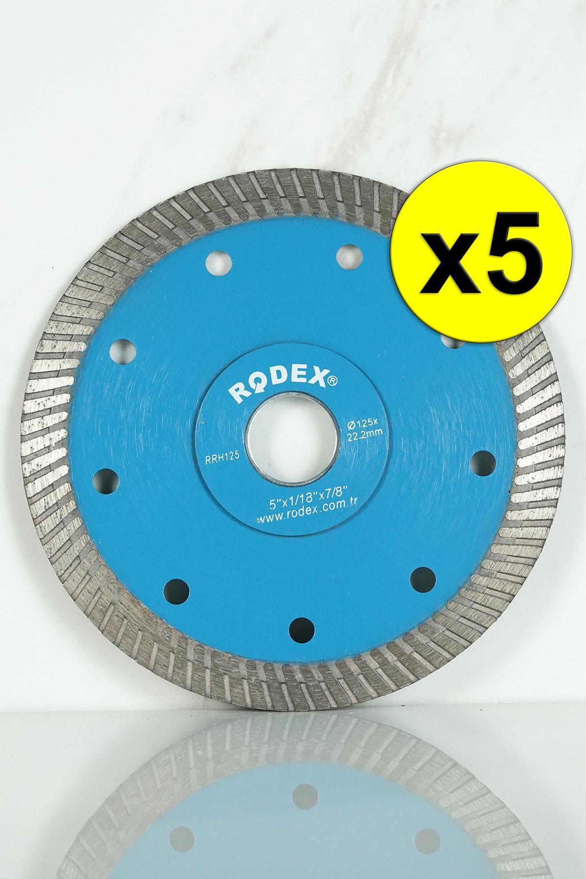Rodex RRH125 Ultra Slim Turbo Diamond Saw Blade 125mm 5 Pcs
