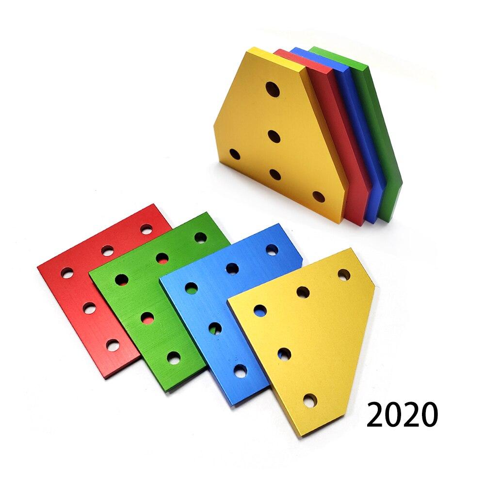 10 قطعة قوي الزاوية زاوية قوس اتصال مشترك قطاع مجلس ل V-فتحة الألومنيوم 2020 مع 5 ثقوب