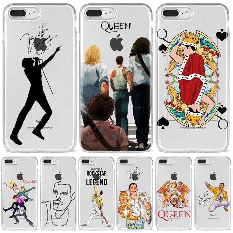 Phone Case For Coque iPhone 12 11Por  Mini Max X XR XS 8 7 6 6S Plus  SE Freddie Mercury Queen band Soft Silicone Fundas Cover