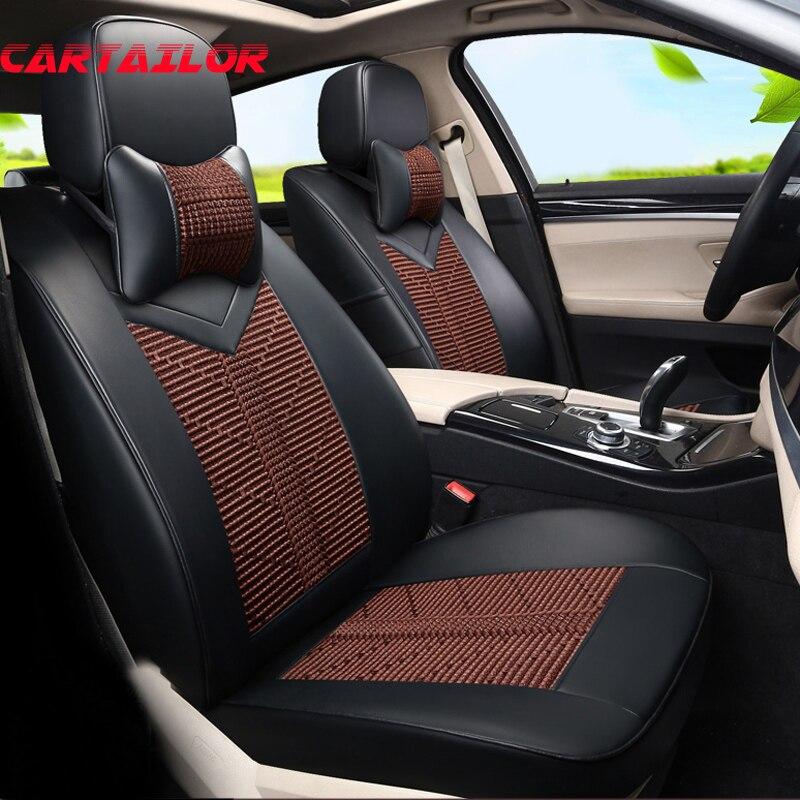 Cubierta de asiento de coche CARTAILOR, estilo de cuero PU para Porsche Cayenne 2008 2011 2016, fundas de asiento, accesorios de coche, Protector de asientos de coche
