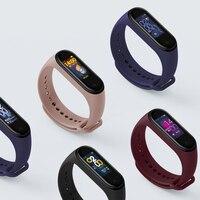 Силиконовый ремешок для часов Xiaomi Mi band 3/4 Mi Band3, браслет для mi Band 4, браслет для Mi band 4, сменный ремешок для смарт-часов