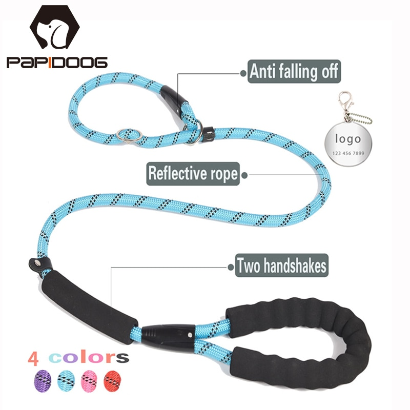 Nylon Customizable ID tags Durable Dog Leash Reflective Pet Lead Rope Adjustable Collar Harness For Small Medium large Dogs