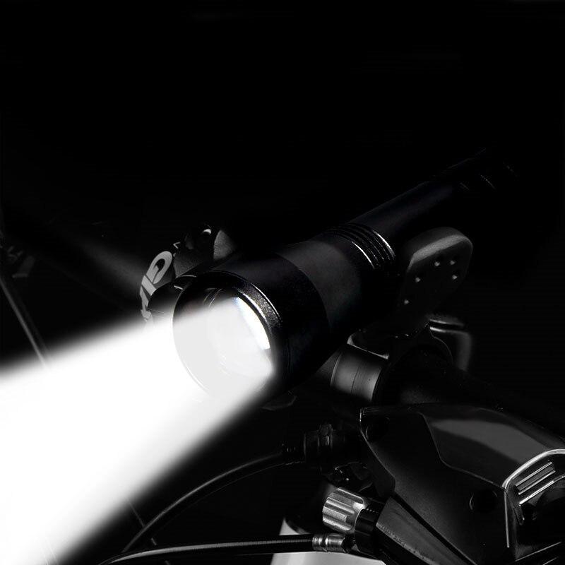 Pesca ao ar livre luz da bicicleta foco telescópico pequena lanterna t6 l2 carregamento ao ar livre led mini zoom luz correndo luz