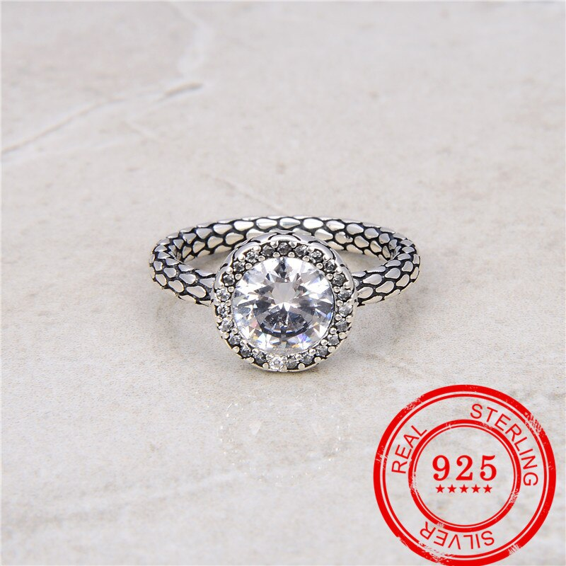 Anel de prata genuína 925, anel de material de acoplamento cúbico, acessórios recomendados para presente de aniversário, anel de prata